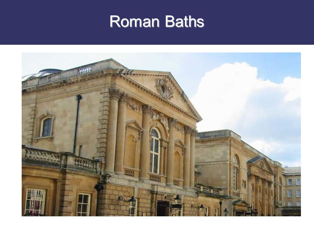 Why were baths so popular with the Romans.