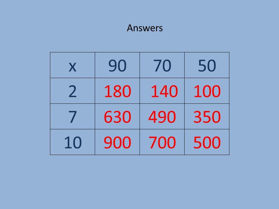 x907050 2180 140100 7630490350 10900700500 Answers