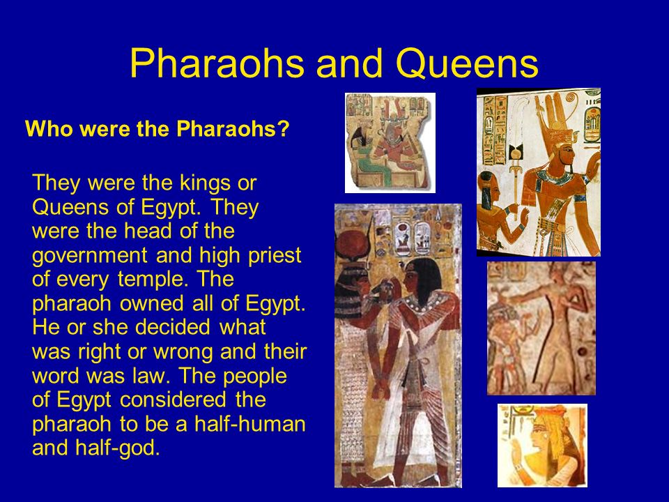Priests Priests were very important people in Egyptian times.