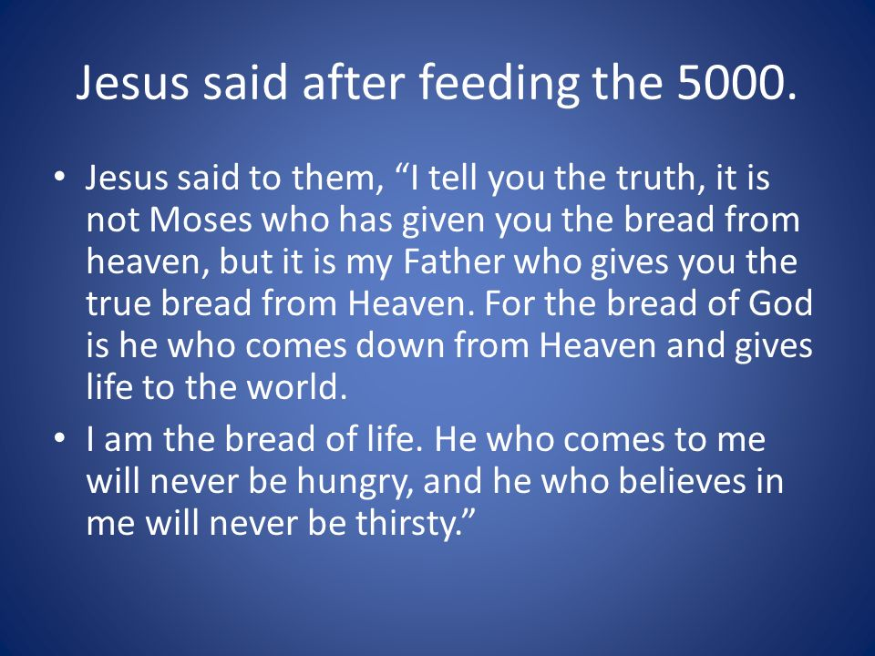 Jesus said after feeding the 5000.