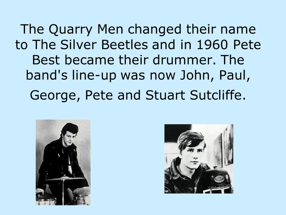 The Beatles in 1960 when they were performing in Hamburg.