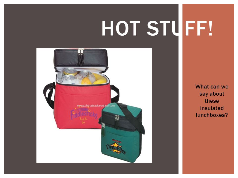 HOT STUFF! What can we say about these insulated lunchboxes?