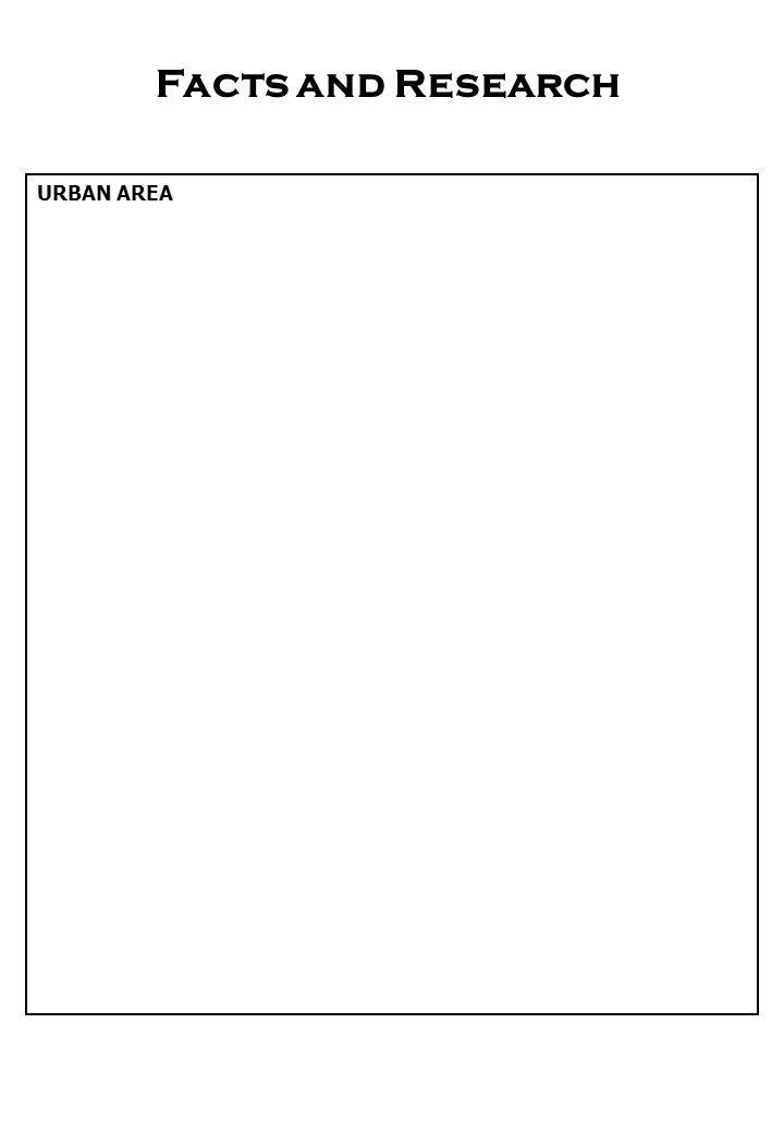 Facts and Research URBAN AREA