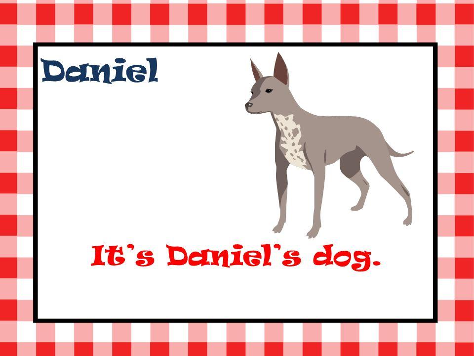 Daniel Its Daniels dog.