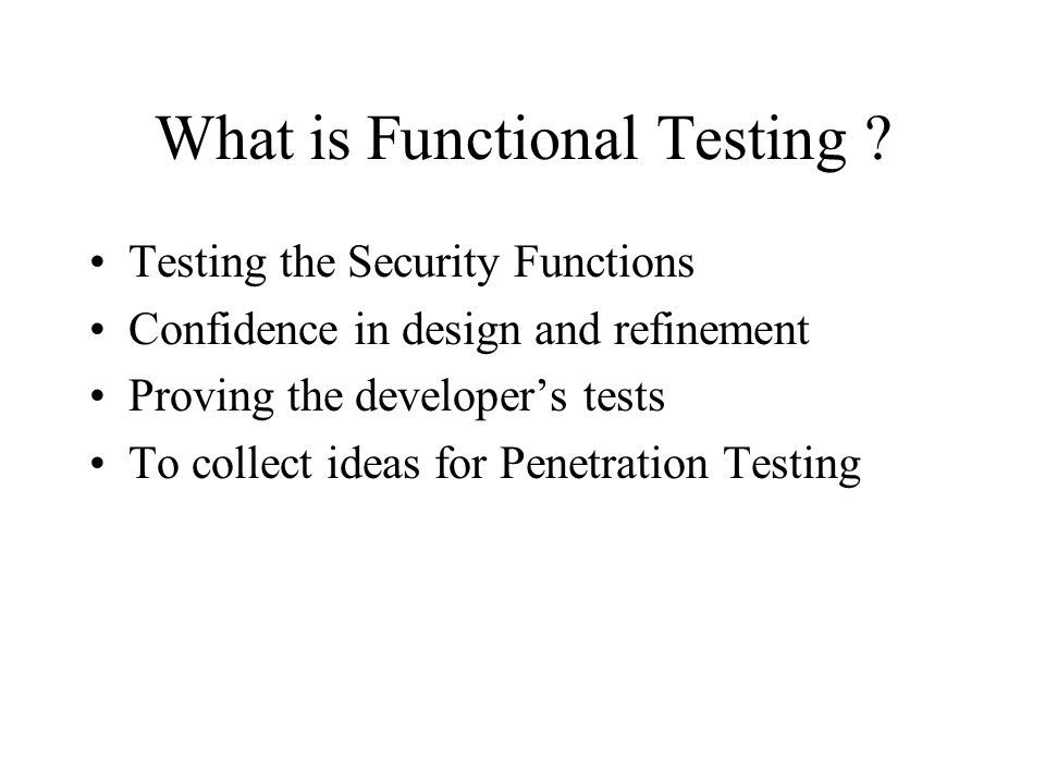 What is Functional Testing .