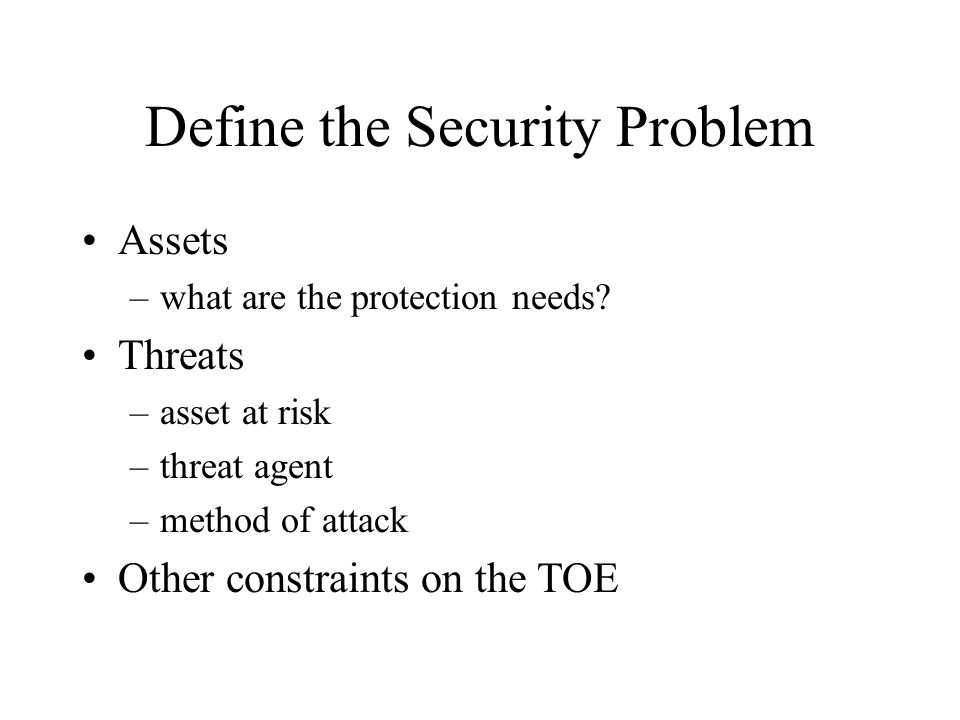 ITSEC Requirements