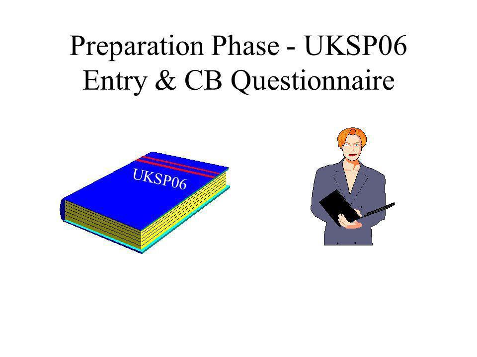 Preparation Phase - UKSP06 Entry & CB Questionnaire UKSP06