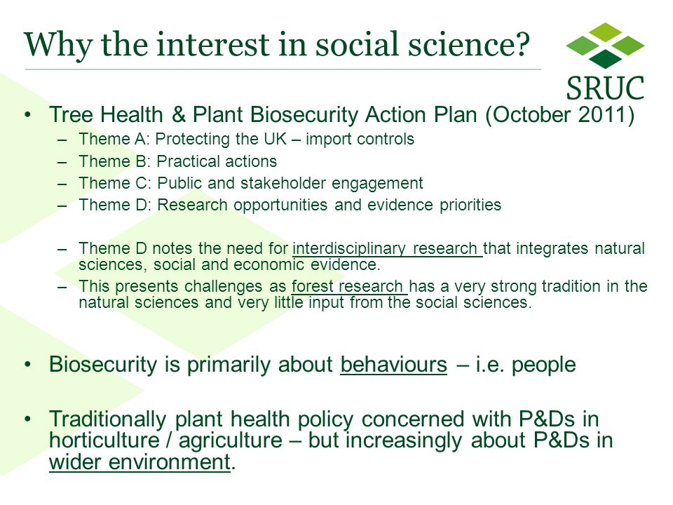 3 Why the interest in social science.