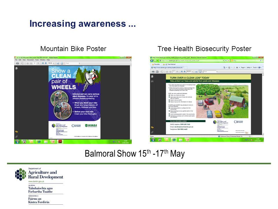 Increasing awareness...
