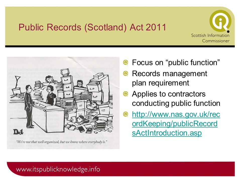 Public Records (Scotland) Act 2011 Use this template for: Text in 2 columns Text and photos Text and graphs Focus on public function Records managemen