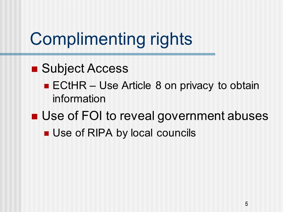 Conflicts Access to personal information about public employees Access to personal information about public held by public bodies 6
