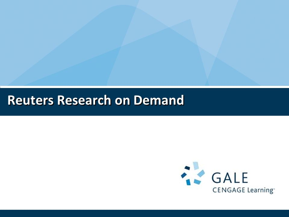 Reuters Research on Demand