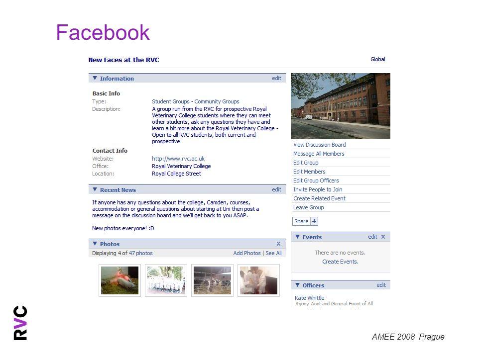 AMEE 2008 Prague Facebook