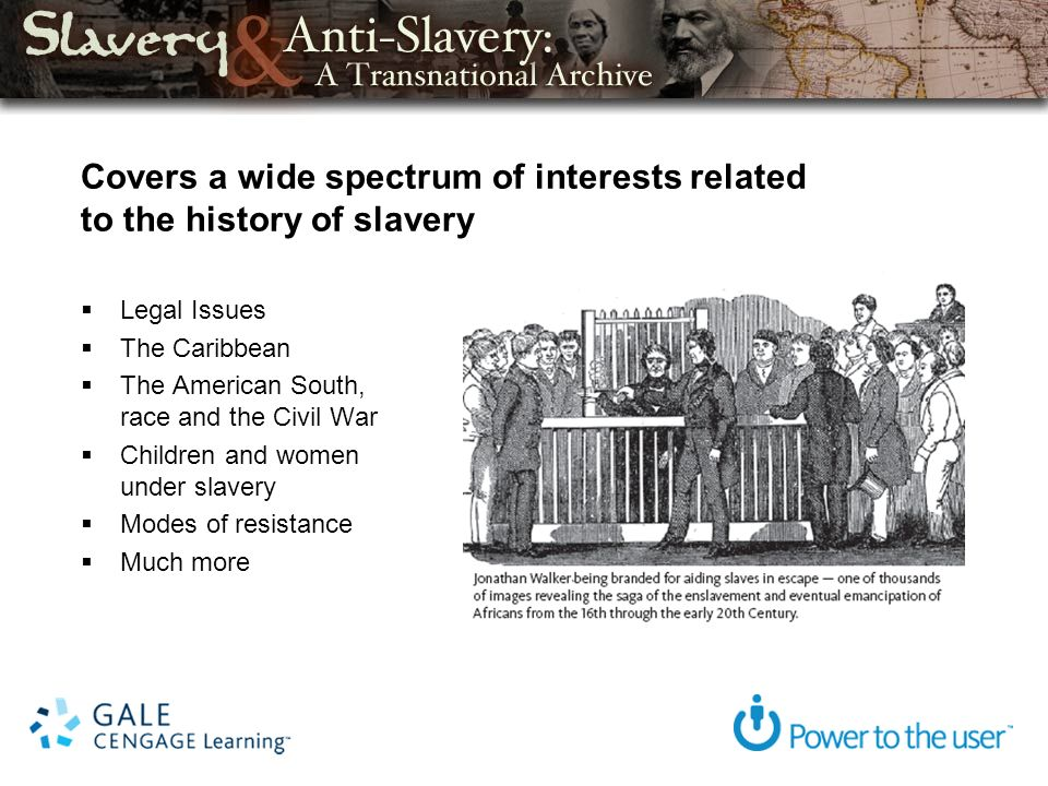 Covers a wide spectrum of interests related to the history of slavery Legal Issues The Caribbean The American South, race and the Civil War Children and women under slavery Modes of resistance Much more