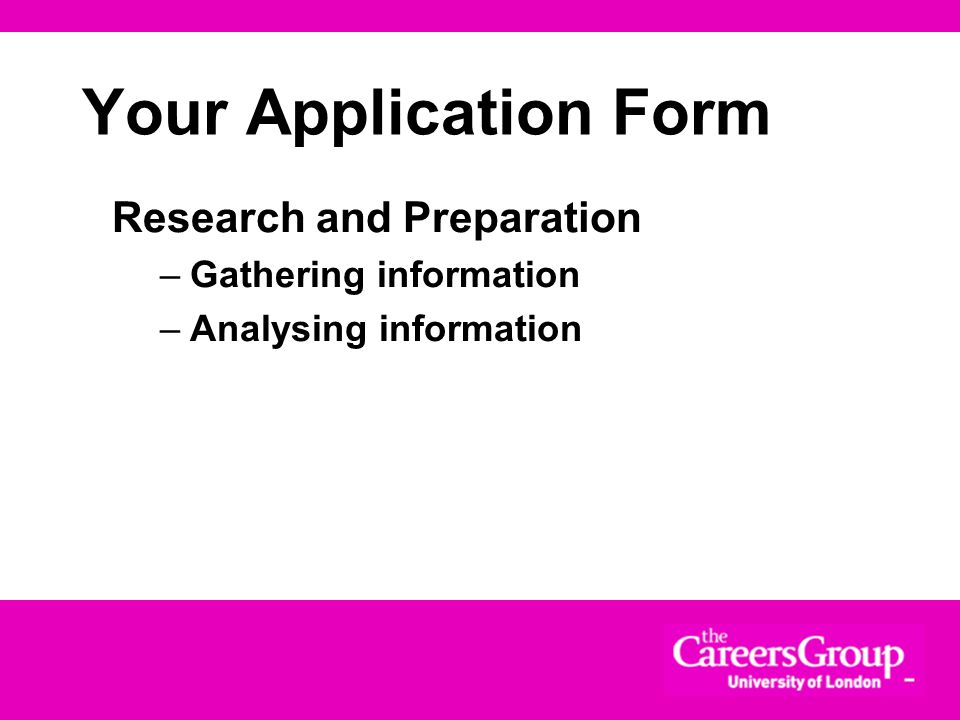 Covering Letters - pitfalls Too long or too short Repeat content of CV Contain information not in CV Is generic Contains negative information