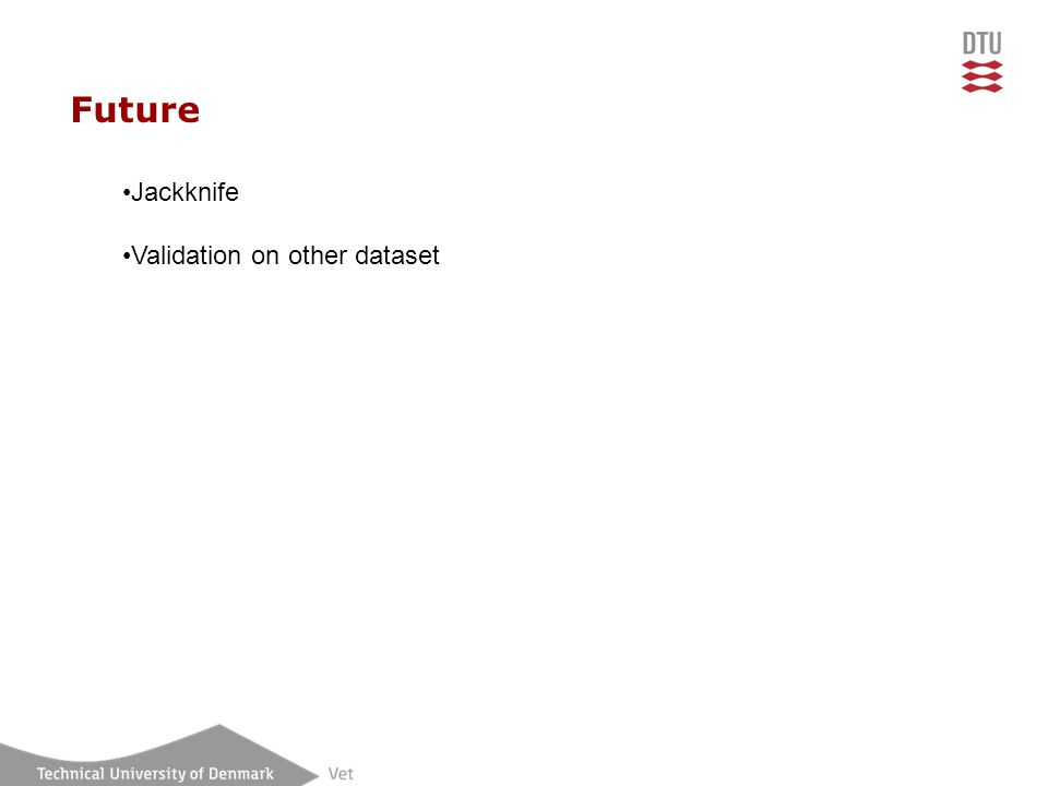 Future Jackknife Validation on other dataset