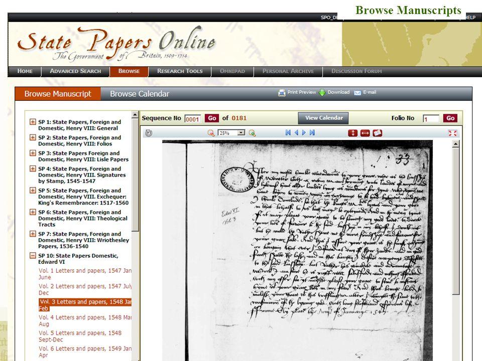 Browse Manuscripts