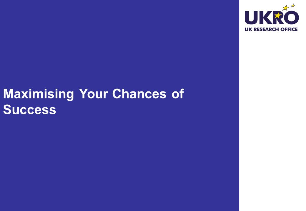 Maximising Your Chances of Success