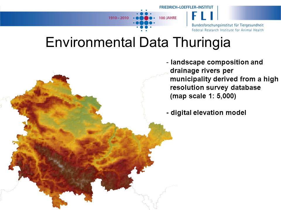 Environmental Data Thuringia - landscape composition and drainage rivers per municipality derived from a high resolution survey database (map scale 1: