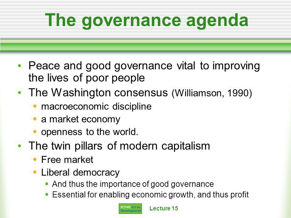 Lecture 15 Case Studies Jamaica e-Governance programme Information Kerala Mission Lesotho 2002 elections UPEACE