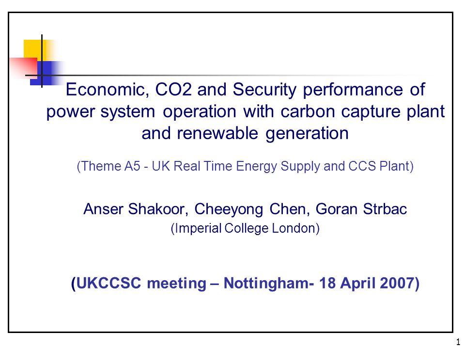 2 Presentation Outline Objectives Modelling CC technologies Case studies Results