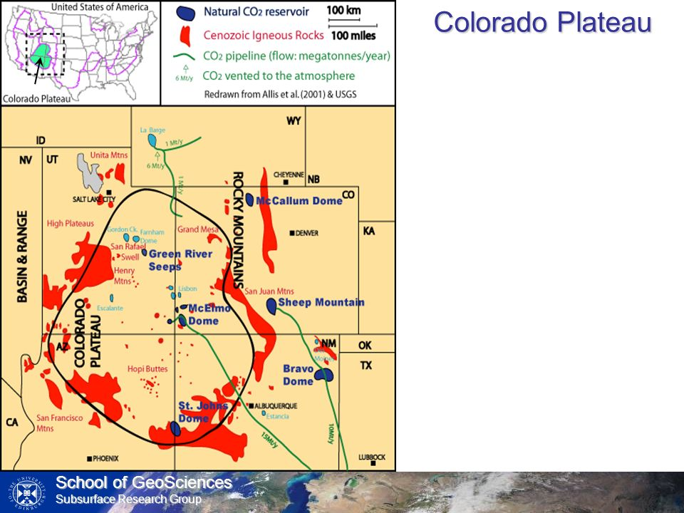 School of GeoSciences Subsurface Research Group Colorado Plateau