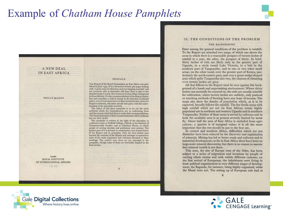 Example of Chatham House Pamphlets
