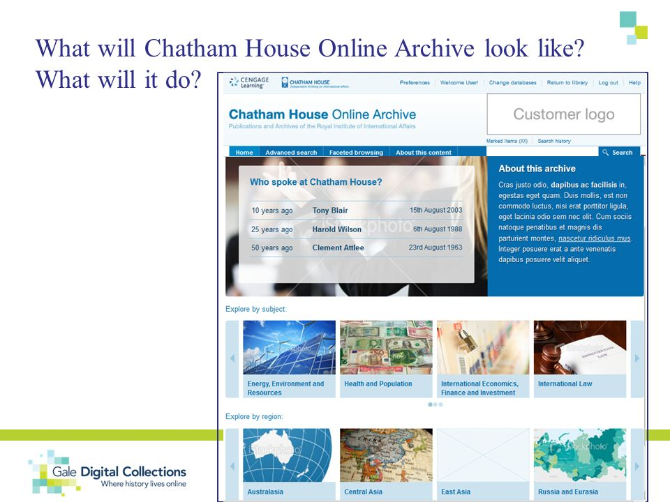 What will Chatham House Online Archive look like? What will it do?