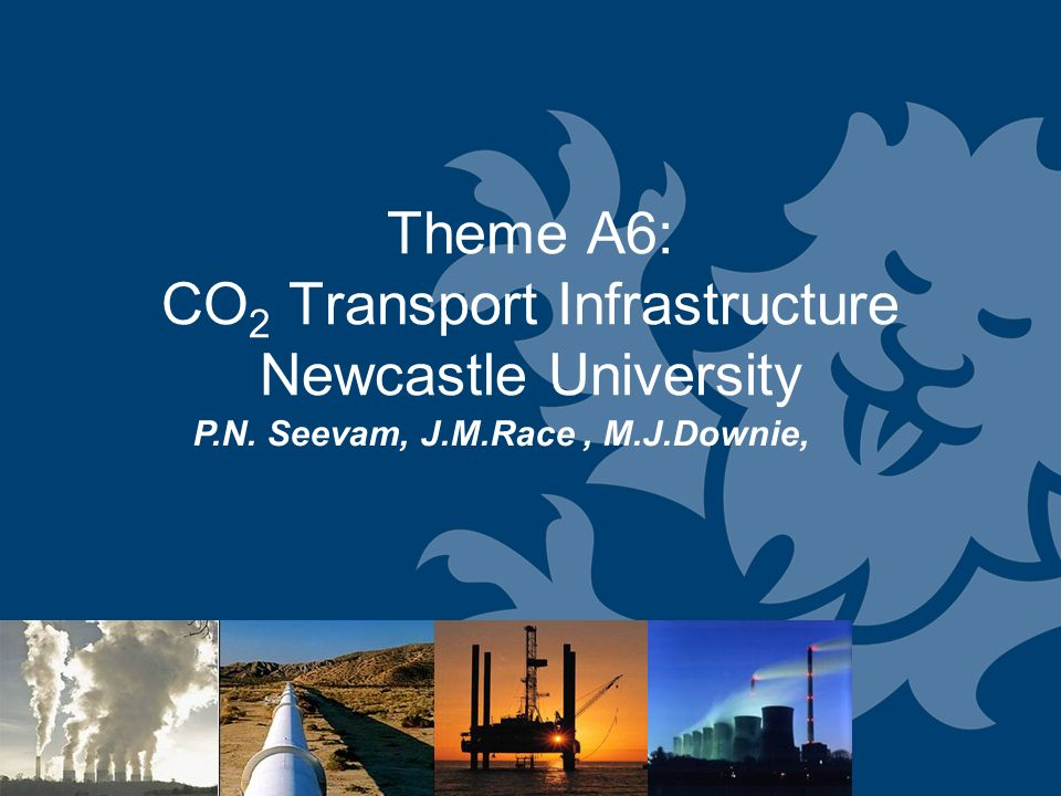 Theme A6: CO 2 Transport Infrastructure Newcastle University P.N. Seevam, J.M.Race, M.J.Downie,