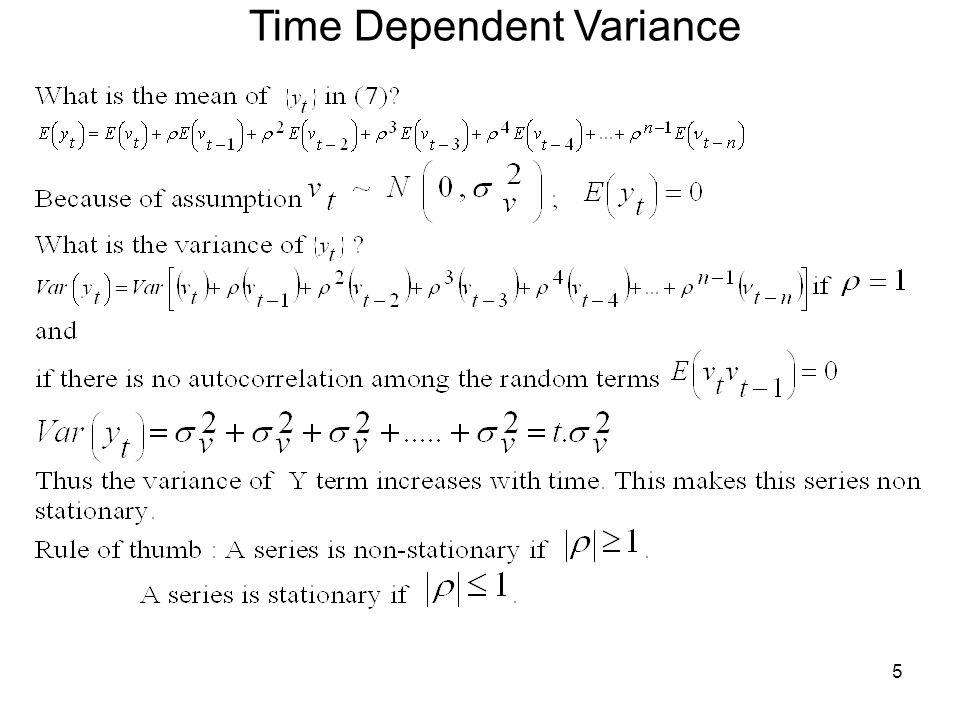 5 Time Dependent Variance