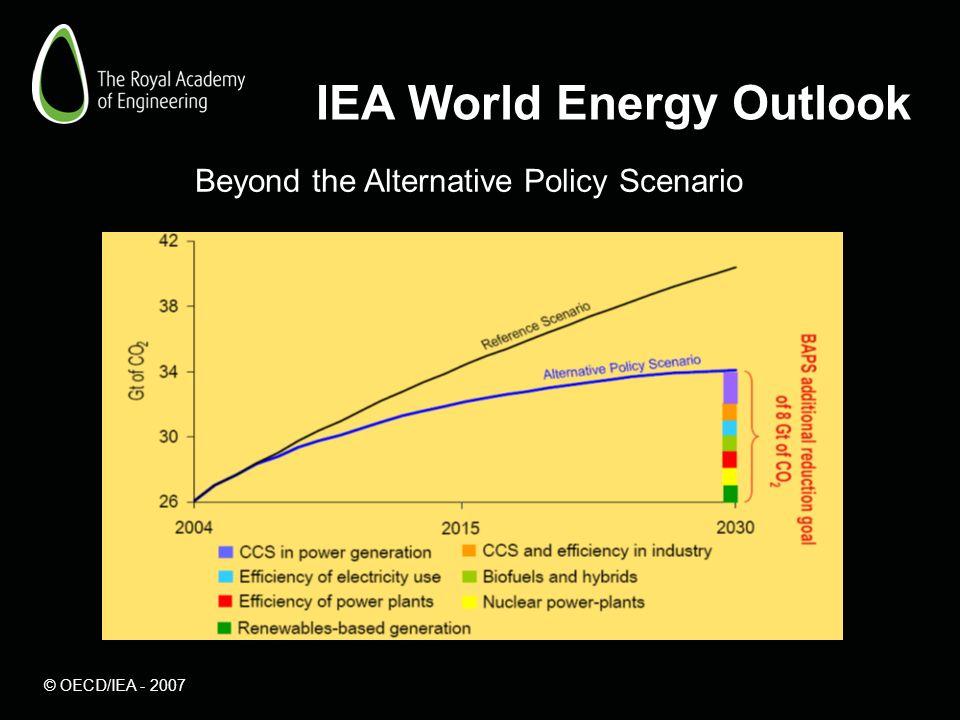 IEA World Energy Outlook Beyond the Alternative Policy Scenario © OECD/IEA - 2007