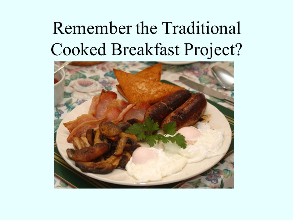 Remember the Traditional Cooked Breakfast Project?