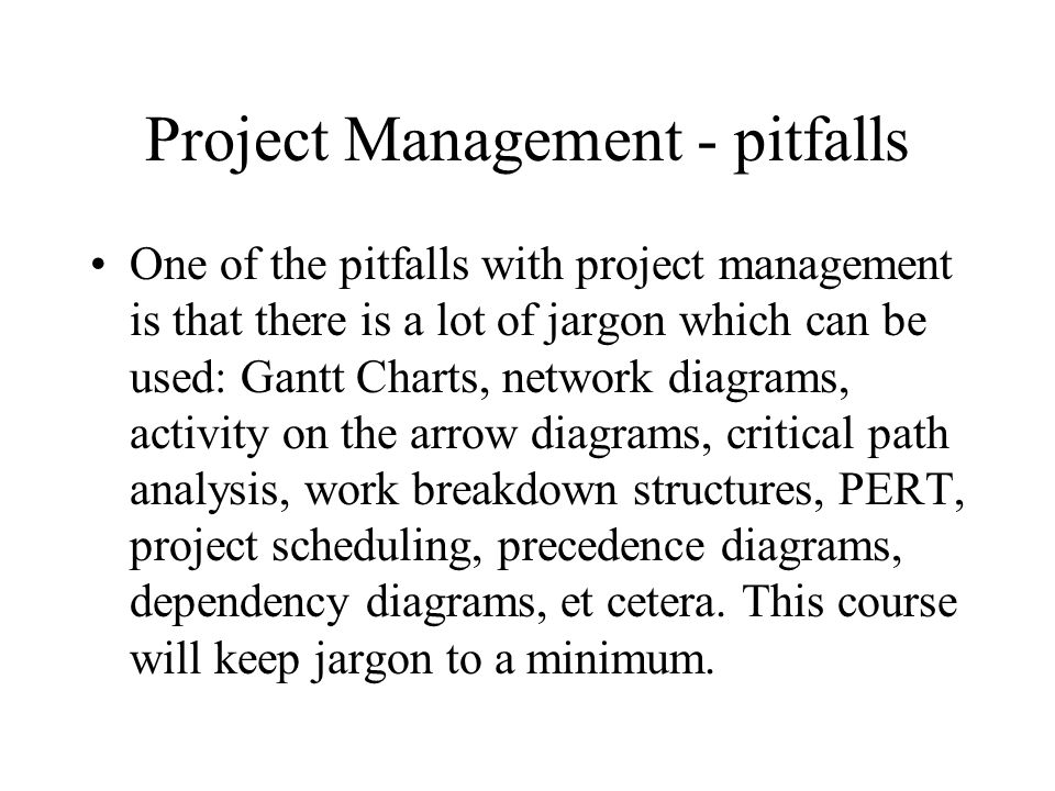 An introduction to Project management This module will look at the tried and trusted tools and techniques of project management, the ones which actually work.