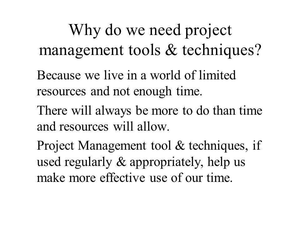 Roles in projects – who is responsible for what.