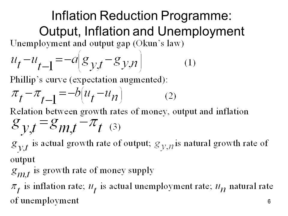 7 Stabilisation: Table 1