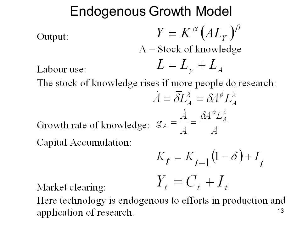 13 Endogenous Growth Model