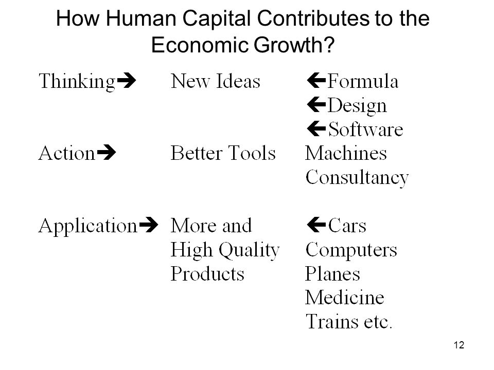 12 How Human Capital Contributes to the Economic Growth?