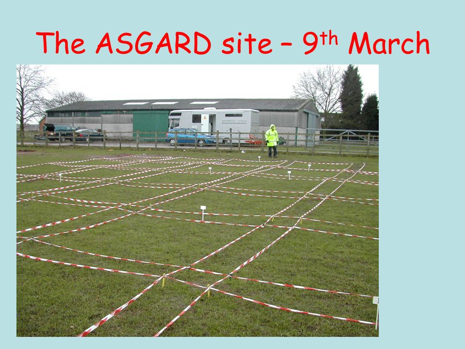 The ASGARD site – 9 th March
