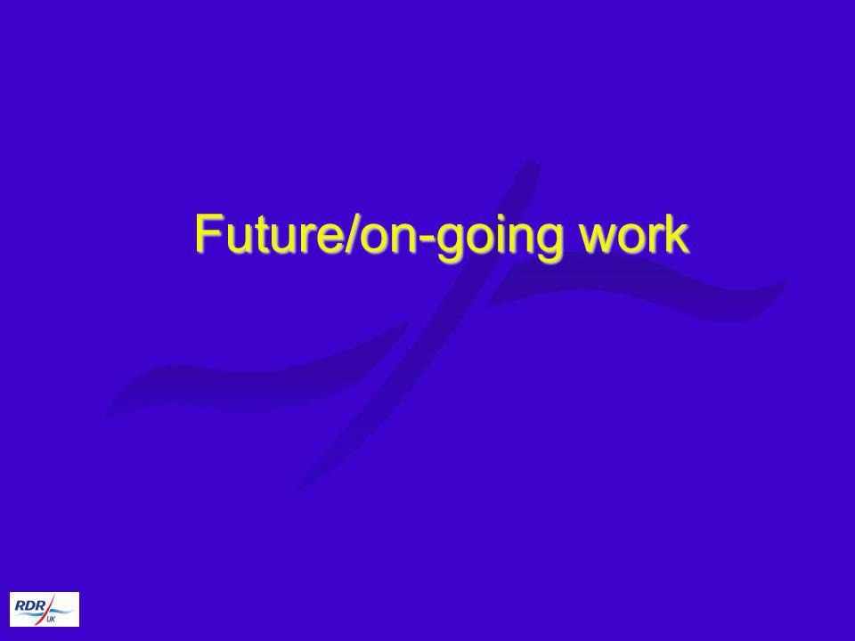 Future/on-going work
