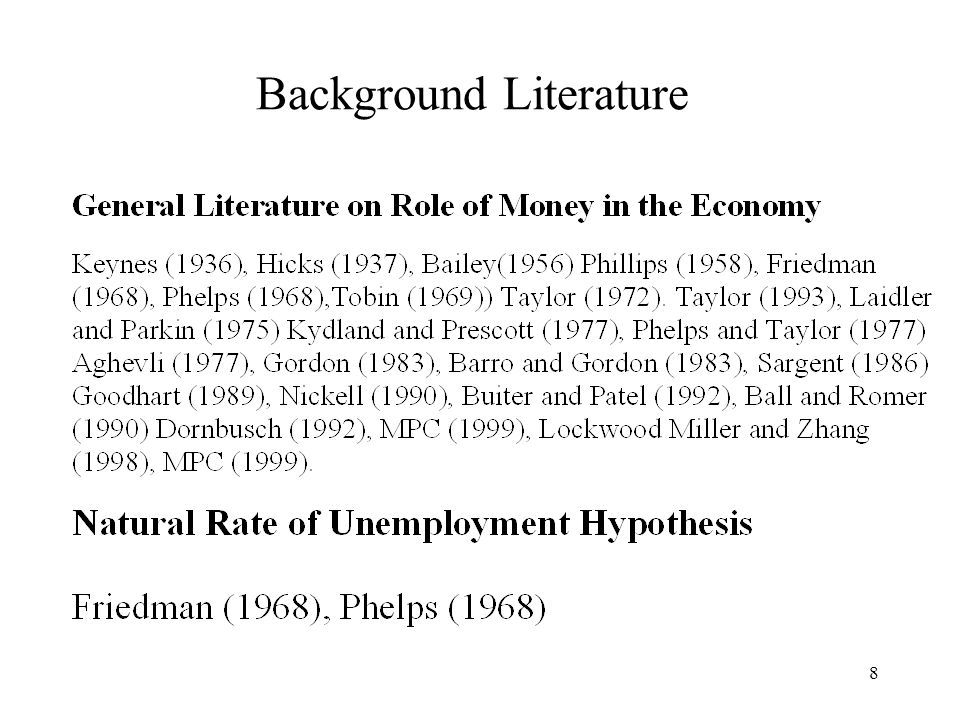 8 Background Literature