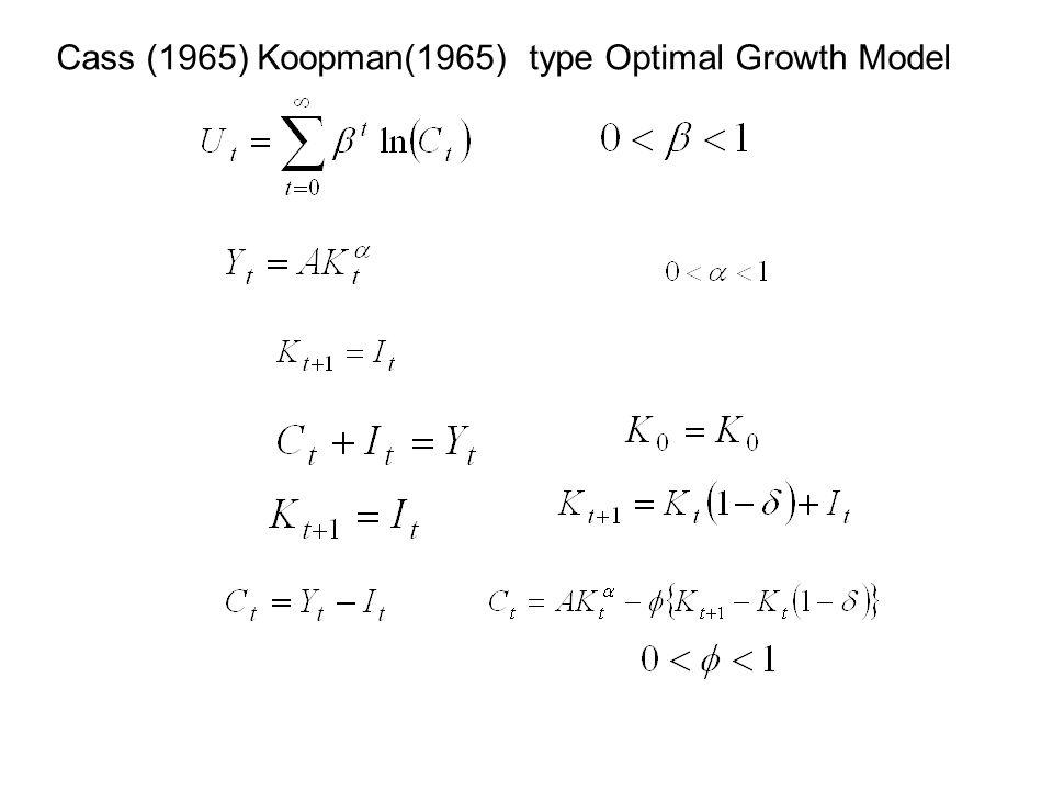 Cass (1965) Koopman(1965) type Optimal Growth Model