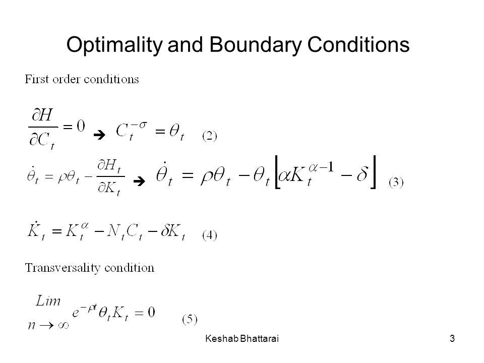 Keshab Bhattarai3 Optimality and Boundary Conditions
