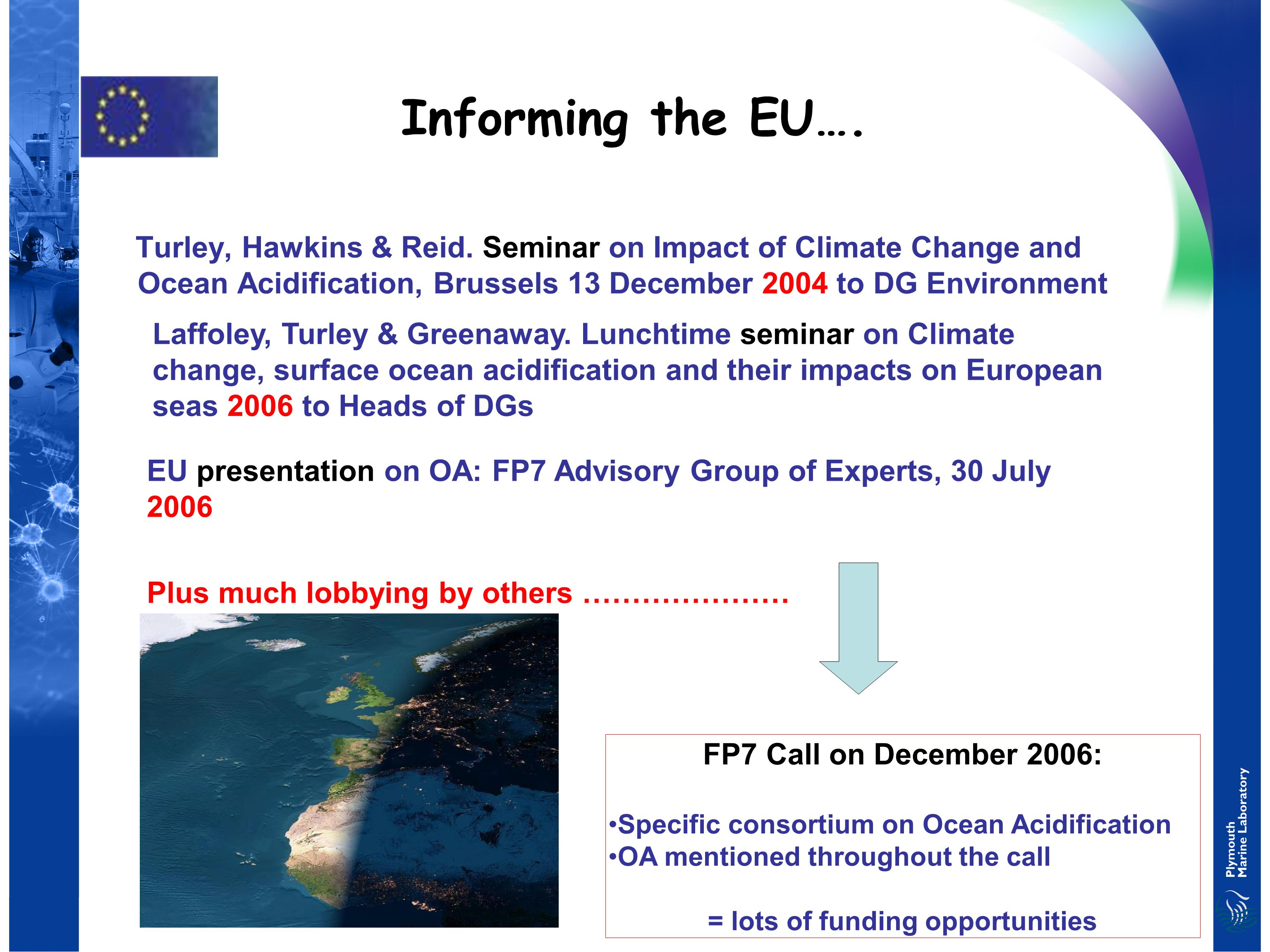 Informing the EU…. Turley, Hawkins & Reid.