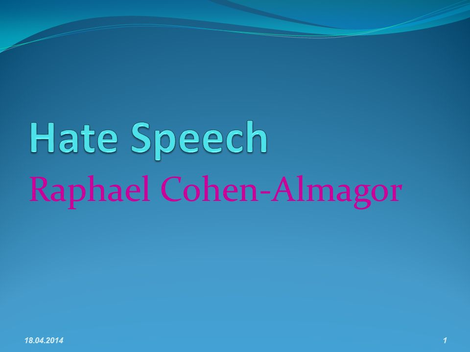 Raphael Cohen-Almagor 18.04.20141
