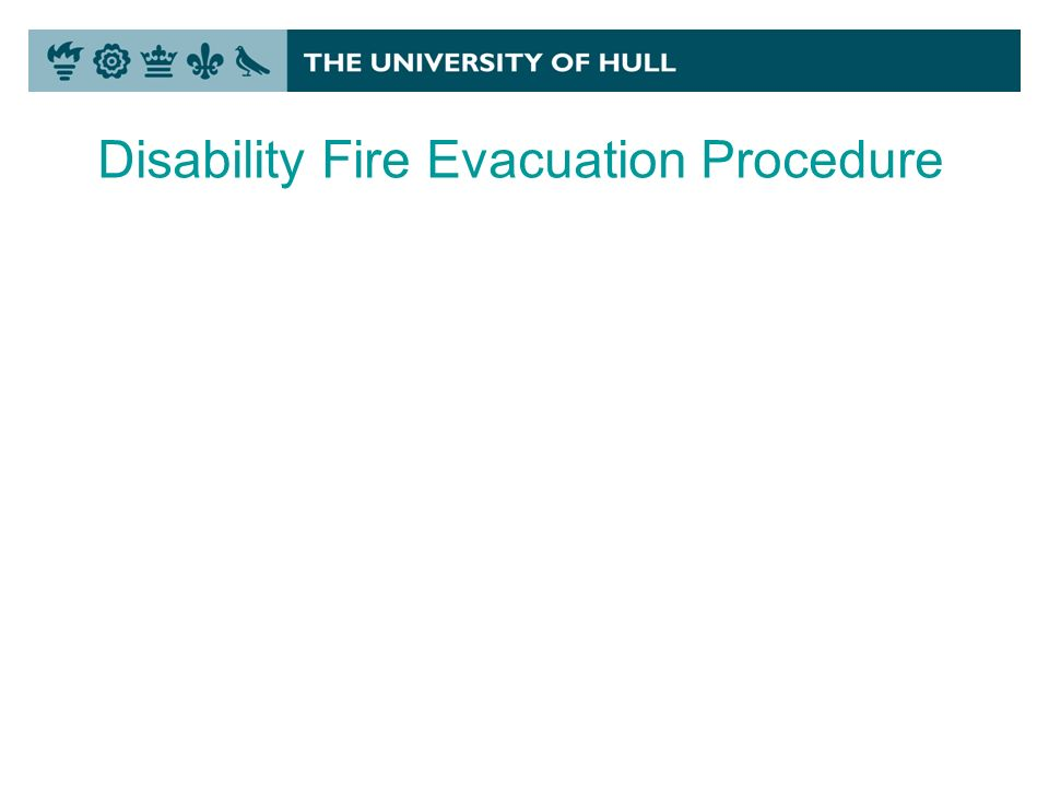 Disability Fire Evacuation Procedure