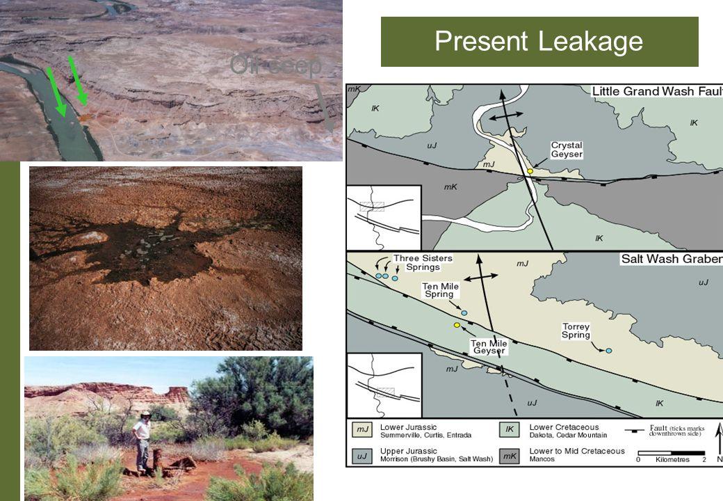 Present Leakage Oil seep