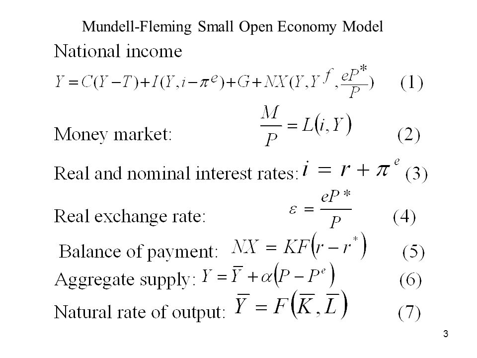 3 Mundell-Fleming Small Open Economy Model