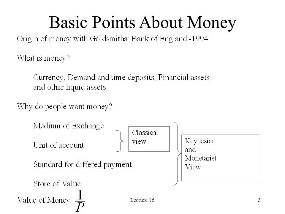 Lecture 1624 Friedman (1968) on Monetary Policy