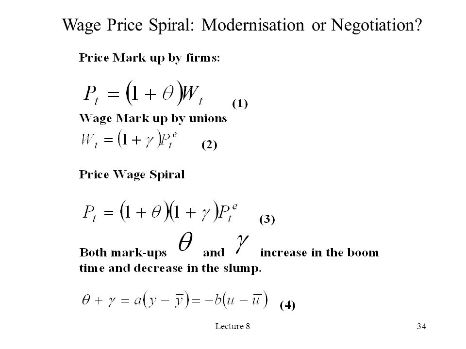 Lecture 834 Wage Price Spiral: Modernisation or Negotiation?