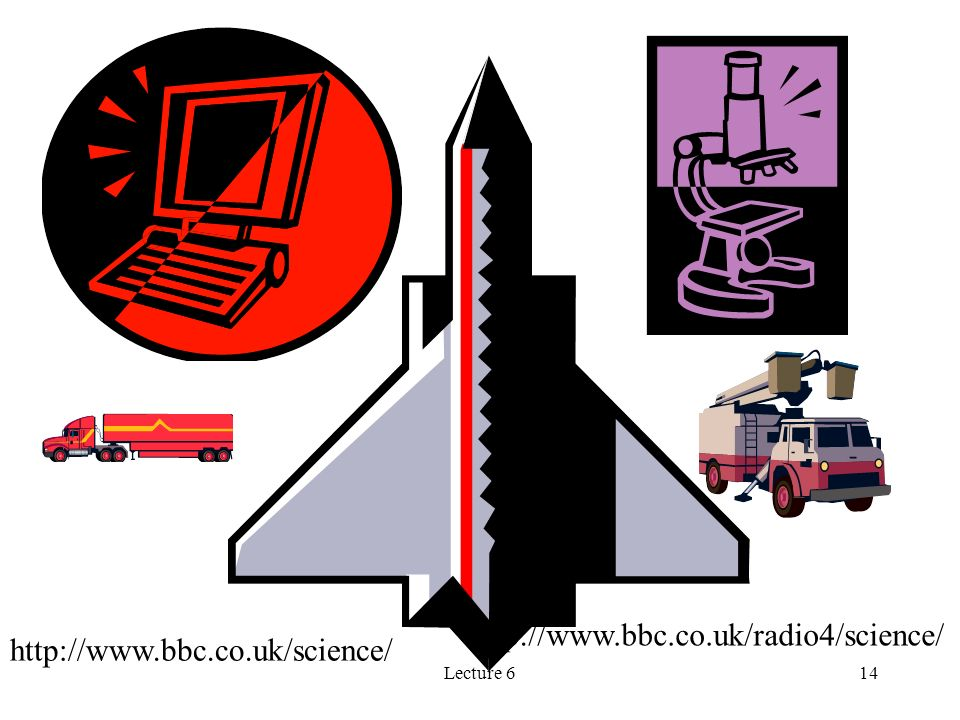 Lecture 614 http://www.bbc.co.uk/science/ http://www.bbc.co.uk/radio4/science/